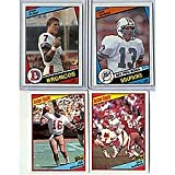 This Is the 1984 Topps Football Complete Near Mint 396 Card Set. Featuring Rookie Cards of Hall of Famers Dan Marino, John Elway, Howie Long, Eric Dickerson ... rookie card picture