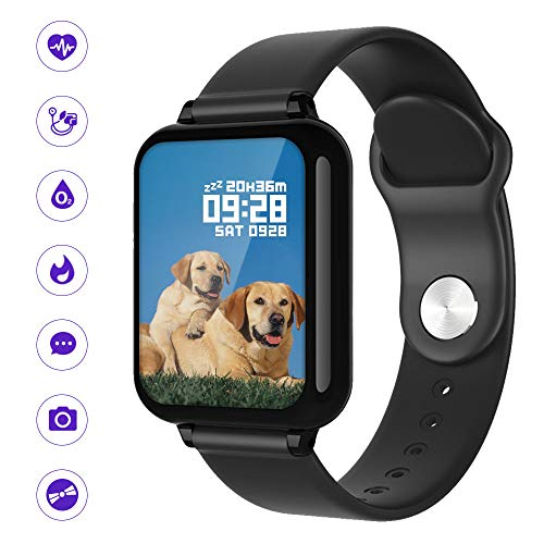 Jhua Fitness Tracker Smart Watch for Android iOS Phone, Activity Sleep Tracker Watch with Heart Rate Monitor, IP67 Waterproof Wristband Smartwatch with Step Counter Calorie Counter for Women Men Kids