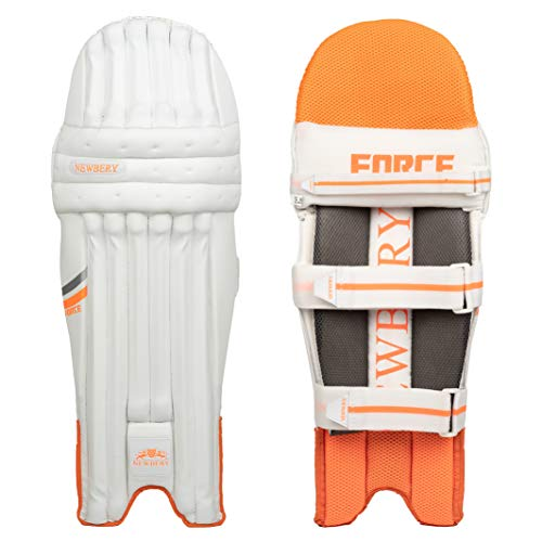 Newbery Cricket Unisex Baby Force Schlagpolster, weiß/orange, Mini Junior