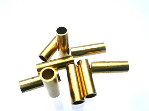 Messinghülsen 12 mm lang / 4 mm ä.Ø x 3,1 mm i.Ø (50 Stück)