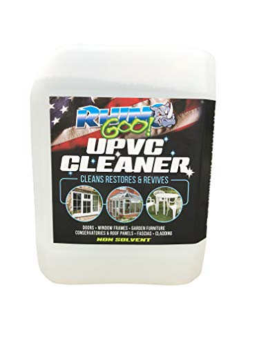 Rhino Goo! 5L UPVC Cleaner - Concentrated Product for The Conservatory, Window Frames, Doors and Garden Furniture - with Algae Growth Inhibitor