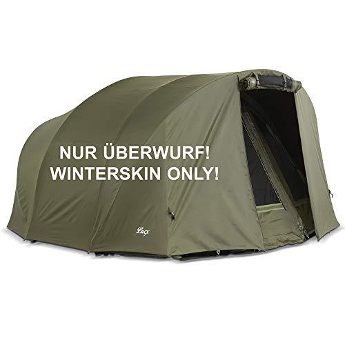Lucx® Winterskin Überwurf Overwrap Skin für Leopard Bivvy Angelzelt Karpfenzelt Carp Dome (Kein Zelt nur Überwurf)