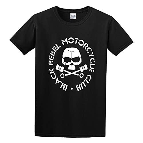 Black Rebel Motorcycle Club Logo Shirt Round Collar Tee L, Black