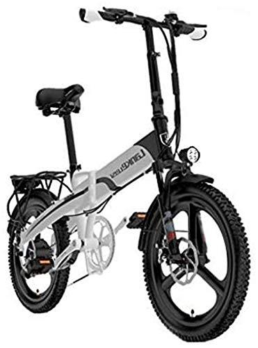 Elettrica Bici elettrica Mountain Bike Pieghevole Bici elettrica for Gli Adulti, 20' Bicicletta elettrica/Commute Ebike con 4000W Motore, 48V10.8Ah Batteria, Shimano 7 velocità di Trasmissione Ingra