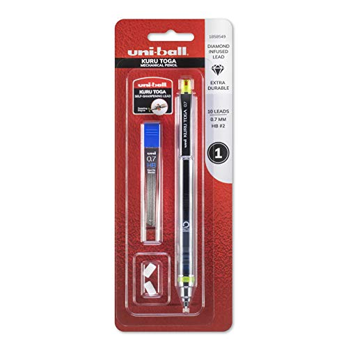 uni-ball KuruToga Mechanical Pencil, 0.7mm, HB #2, 1 Count (1858549)