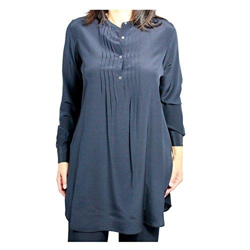 ASPESI Camicia Donna Lunga Blu MOD H701 B753 100% Seta (46)
