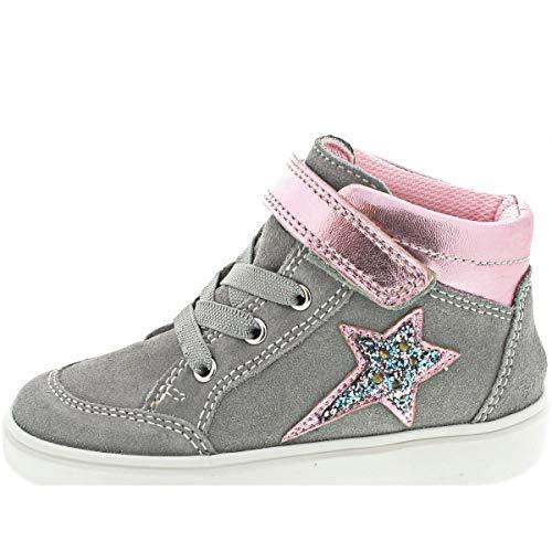 Richter Kinderschuhe Flora Sneaker, Fog/Candy/Silver, 28 EU