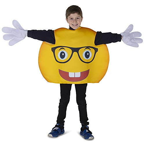 Dress Up America Smiley Glasses Emoji Costume for Kids - Product Comes Complete with: Tunic and Gloves