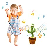 QIUXQIU Cactus Plush Toys Singing and Dancing Cactus Electronic Toy,Holiday Decoration for Kids,Funny Early Childhood Education Toys New