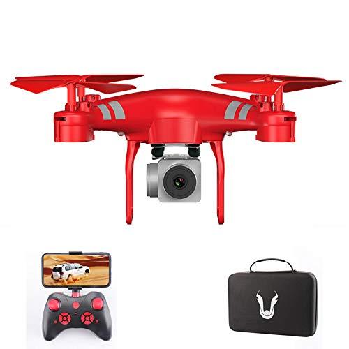 ZUOQUAN4K HD Drone, Immagine Professionale 4K HD Droni Telecamera Grandangolare A 110 °, Controllo Vocale, Ritorno con Un Clic, Controllo App Mobile, Distanza del Telecomando 150M,Rosso
