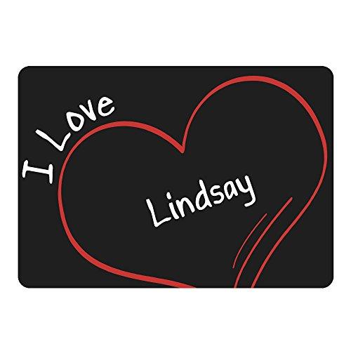 Multifanshop Mousepad Modern I Love Lindsay schwarz