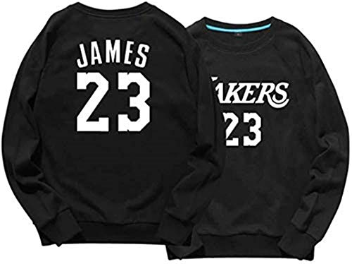 NBA Sudadera con capucha de Los Angeles Lakers, Nº 23, sudadera con capucha, manga larga, suéter de baloncesto, sudadera con capucha Lebron James, cuello redondo (color: A, talla: XXXL) – Unisex