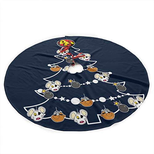 Danger Mouse Christmas Tree Baubles Plush Fabric Christmas Tree Skirt 36 Inch Holiday Home Decor ,Soft, Light and Good to Touch