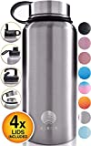 ALBOR Insulated Water Bottle with Straw - 32 Oz Water Bottle Stainless Steel Water Bottle with Straw...