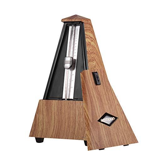 ammoon Métronome Mécanique pour Guitare   Basse   Piano   Violon   Batterie et Autres Instruments Débutant (Marron)