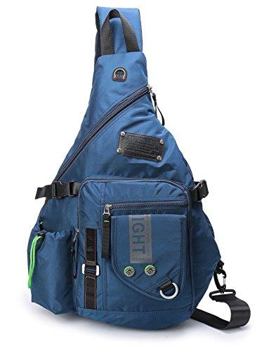 Large Sling Backpack, Sling Chest Bag Shoulder Crossbody Daypacks Fits 14Inch Laptop Bookbag for Travel Outdoor Men Women