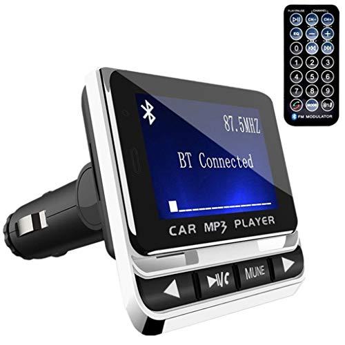 LEVEL GREAT USB FM12B 1,44 Pulgadas Adaptador Bluetooth Car Coche Reproductor de MP3 sin Hilos sin Manos del transmisor de FM Radio Pulgadas LCD Bluetooth Cargador de Coche de Control Remoto