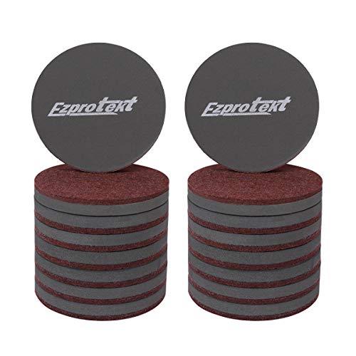 Ezprotekt 3,5-Zoll-Möbelschieber 89-mm-Rundfilzschieber Moving Furniture Gliders Pads für den Schutz von Hartholzböden und alle harten Oberflächen, 16 PCS Brown