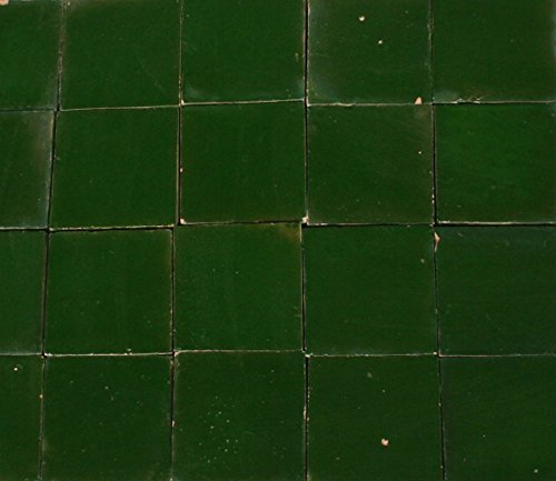 20Stk. Cotto Ziegel Bejmat Zelliges Bodenplatte Bodenfliesen Fliese (Bodenplatte grün)