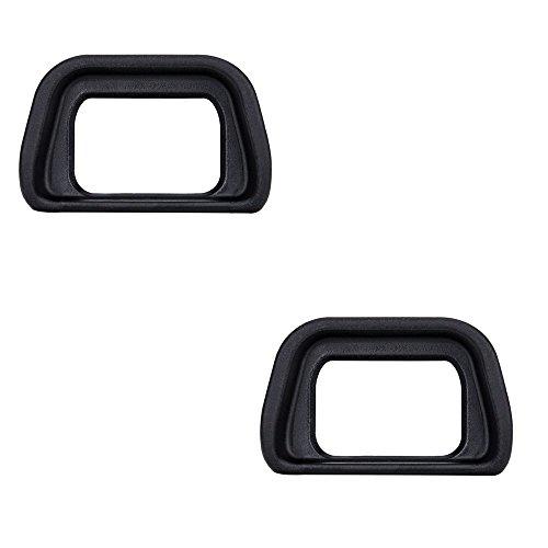 JJC Augenmuschel für Sony Alpha NEX7/NEX-6/A6000/A6300/FDA-EV1S Sucher Ersetzt Sony FDA-EP10 – Schwarz (2 Stück pro Paket)