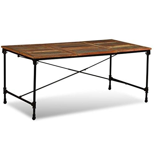 vidaXL Mesa Comedor 180 cm Madera Reciclada Mueble Mobiliari