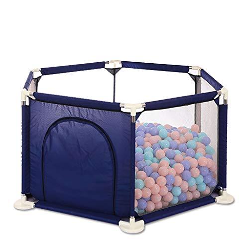 Aire de jeu pour clôture de bébé, parcs pour bébé, tapis de sécurité, aire de jeu pour la sécurité des bébés et des enfants (bleu, rouge) parc pour bébé ( Couleur : Bleu , taille : 140 × 70 x 66.5cm )