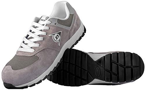 Dunlop Flying Arrow Sicherheitsschuh Arbeitsschuh S3 mit Zehenkappe, Sportlich & Atmungsaktiv, Grau, Größe: 47 + Ace Schuhbeutel