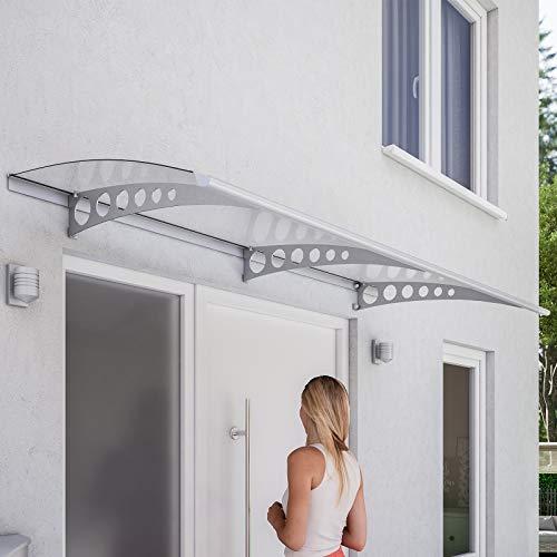 Schulte Vordach Haustür Überdachung Pultvordach 200 x 90 x 17 cm Edelstahl V2a