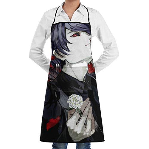 RJ Unique Küchenschürze,to_Kyo Gh_OUL Anime Küchenschürze, Lustige Druckküche Taillenschürzen Für Vatertagsgeschenke,72x52cm
