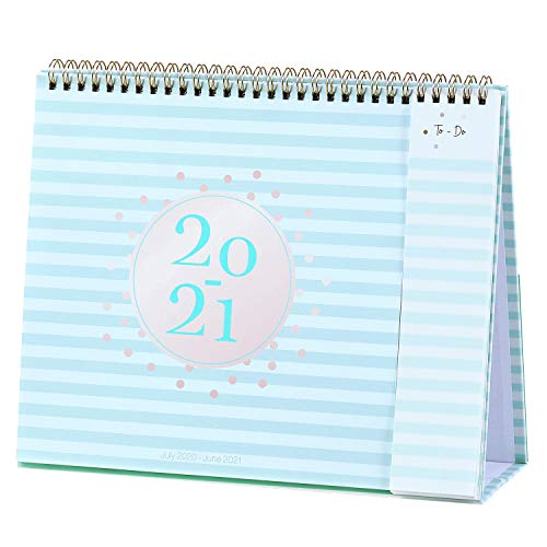 2020-2021 Desk Calendar - Standing Flip Calendar with Premium Thick Paper, 10.5