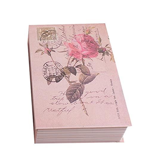sevenjuly 1pc Hogar Libro Seguro con Funciones De Combinación Patrón De Bloqueo Inicio Diccionario Desvío Metal Seguro De La Cerradura Caja Creativa De La Flor De Rose
