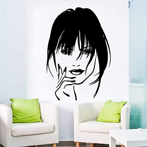 Wuyii 57 x 80 cm make-up sticker vinyl Home decor oker meisjes dames labra cosmetica haardroger schoonheidssalon sticker C