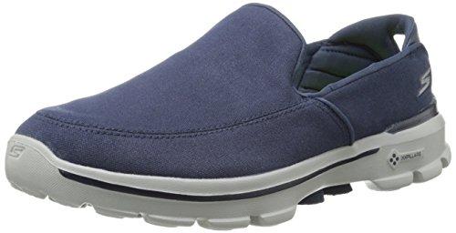 Skechers Go Walk 3 Attain - Zapatillas De Deporte Hombre, Azul (Nvy), 47