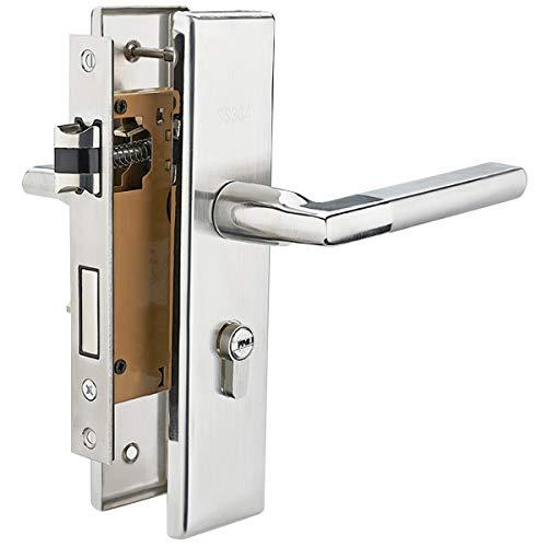 Rehomy Cerradura de La Puerta Palanca de La Puerta Delantera Interior de Acero Inoxidable Cerradura de La Manija de La Puerta con Llaves