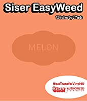 Siser EasyWeed アイロン接着 熱転写ビニール - 12インチ (メロン、3ヤード)