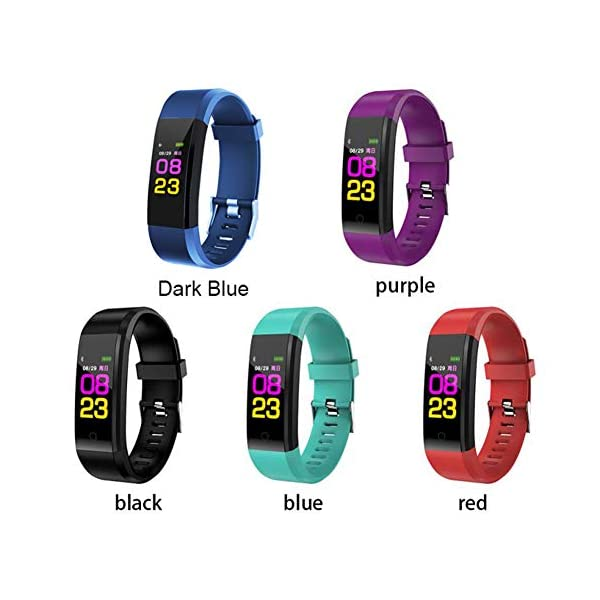 Leobtain Fitness Tracker Pantalla a Color Monitor de Ritmo Cardíaco Presión Arterial Pulsera Inteligente Relojes… 6