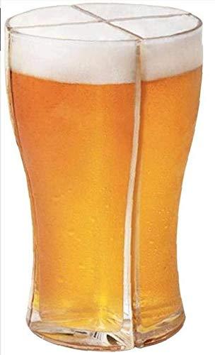 ZoneYan 4 in 1 Birra Bicchieri, Bicchiere da Birra in Acrilico, Bicchieri da Birra Divertenti, Set di Bicchieri da Birra, 4 Bicchieri da Birra, Anti-Caduta, Assegnazione di Bevande Per Feste