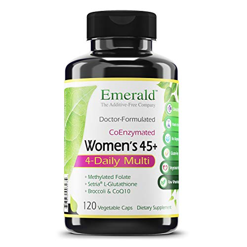 Emerald Labs Womens 45+ Clinical Multi - Multivitamin with CoQ10, B Vitamins, L-Glutathione to Support Healthy Heart, Strong Bones, Balanced Hormones - 120 Vegetable Capsules