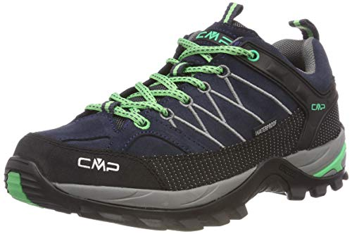 CMP Rigel Low Wmn Trekking Shoes WP, Scarpe da Arrampicata Basse Donna, Grigio (Asphalt-Ice Mint 64bn), 38 EU