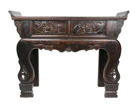 Fine Asianliving Antieke Chinese Sidetable Bijzettafel Handgesneden Hardhout