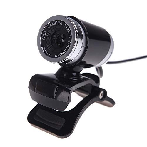 N/A Webams HD Computer Camera met Absorptie Microfoon voor Skype Android TV Web Cam, Zwart