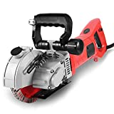 Wall Grooving Machine, Channels Cutter, Concrete Cutting Machine for Cutting Slotting Marble Concrete Grooves 110V(Red)