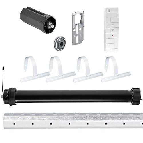 NOBILY *** Rolladen-Komplett-Set f. 60mm Achtkantwelle Mechanischer Funk Maxi-Rolladenmotor 20Nm + Mechanik-Set mit 150cm Welle