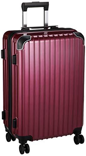 [BAGING(バギング)] 軽量 スーツケース キャリーバッグ 8輪キャスター TSAロック YKKファスナー LB006 (S サイズ, ワインヘアーライン)
