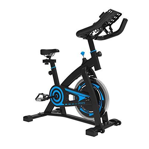LJYY Heimtrainer für Heimtrainer, Verstellbarer Lenker-Sitzwiderstand, Smart APP Control Elektromagnetisches Spinnrad für den Heimgebrauch mit Multifunktionshalterung mit tragbarem Laufrad