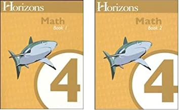 Horizons Math 4 SET of 2 Student Workbooks 4-1 and 4-2