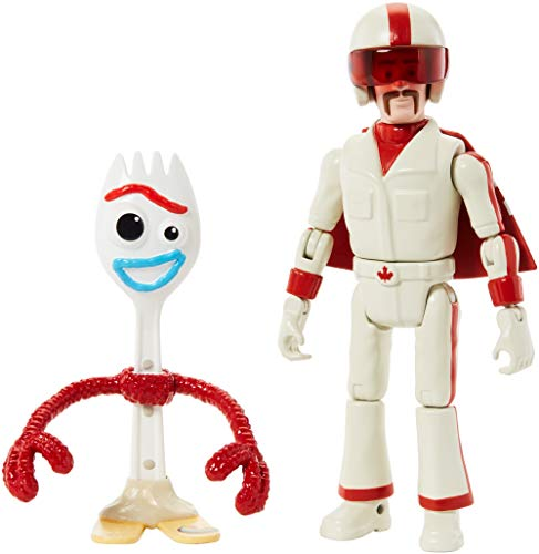 Disney Toy Story 4 Figura Forky con Duke Caboom, juguetes ni