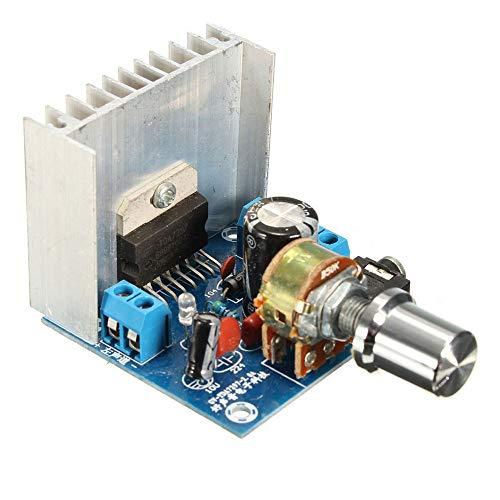 Versión B Tda7297 2 X 15W Placa de Amplificador de Audio de Doble Canal AC/DC 12V (Azul)