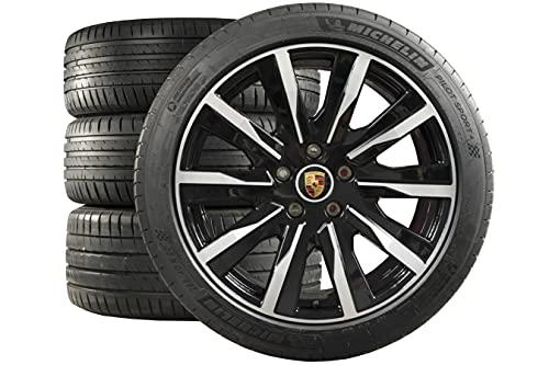 Compatible con Porsche Taycan 20' Tequipment Design - Juego de ruedas de verano, color negro