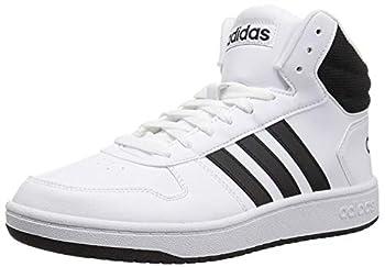 adidas Men s Hoops 2.0 Mid Basketball Shoe White/Black/Black 10 M US